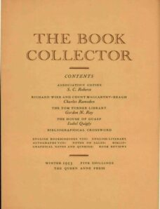 The Book Collector – Winter 1953