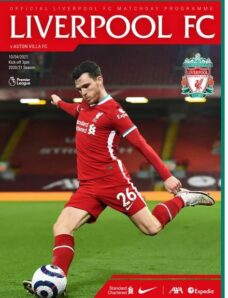 Liverpool FC Programmes – vs Aston Villa – 10 April 2021