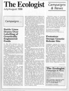 Resurgence & Ecologist – Campaigns & News July-August 1998