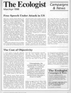 Resurgence & Ecologist – Campaigns & News March-April 1998