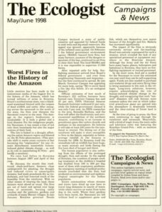 Resurgence & Ecologist – Campaigns & News May-June 1998