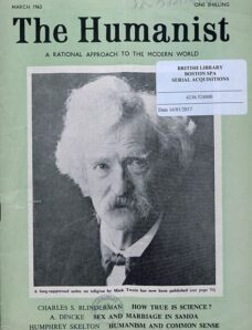 New Humanist – The Humanist, March 1963