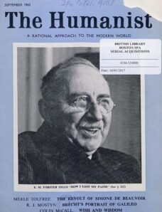 New Humanist – The Humanist, September 1963