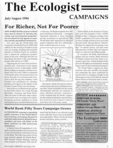 Resurgence & Ecologist – Campaigns Vol 24 N 4 – July-August 1994