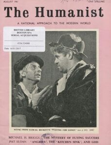 New Humanist – The Humanist, August 1961