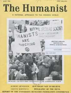 New Humanist – The Humanist, June 1962
