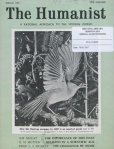 New Humanist – The Humanist, March 1962