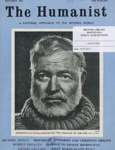New Humanist – The Humanist, September 1961
